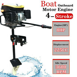8hp 4stroke 225cc Outboard Motor Boat Strong Engine With Air Cooling System New