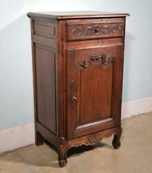 Antique French Provincial Sideboard/bar Cabinet/console In Solid Oak