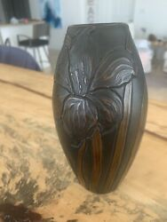 Beautiful Clewell Copperclad Vase - Lily Pattern
