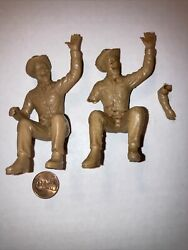 2 Vintage Ideal Pat Brady Driver Figure For The Roy Rogers Nellybelle Jeep