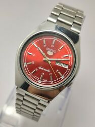 Seiko 5 Automatic Menand039s Vintage Wrist Watch 17j Day Date Japan Made