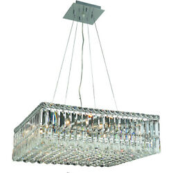 Asfour Crystal Foyer Dining Room Kitchen Island Fixture 12 Light 24 Chandelier