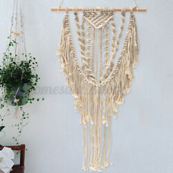 Wall Hanging Tapestry Woven Room Home Decor Macrame Handmade Textile Chic Beige