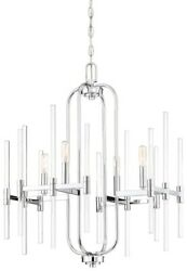 Pillar - Chandelier 4 Light Chrome In Transitional Style - 27.75 Inches Tall By