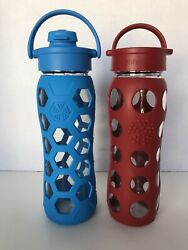 Life Factory Glass Water Bottles 22 Ounce Bpa Free Bundle Of Two Yoga Sport Gym