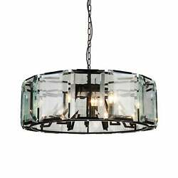 18 Light Chandelier With Black Finish And Clear Crystals Black