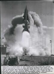1960 Press Photo Test Firing Of The Us Militaryand039s Nike Missile In White Sands Nm