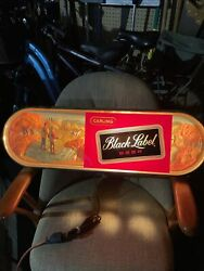 Rare -vintage Lighted Beer Sign - Carling Black Label - Works 30andrdquox10andrdquo-3d Hunting