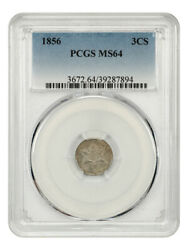 1856 3cs Pcgs Ms64 - 3-cent Silver - Great Type Coin