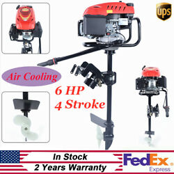 4 Stroke 6hp Heavy Duty Outboard Motor Boat Engine Forced Air Cooling Pull Start