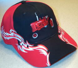 Farmall H/m Red White And Black Embroidered Solid Flame Hat