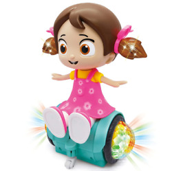 Rotating Musical Dancing Girl Doll Activity Play Center Toy