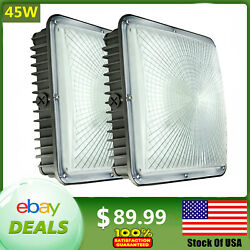 Led Canopy Light 45w Ceiling Light Replace 250w Hps Gas Station Square Lights