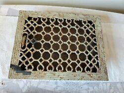 Vintage Cast Iron Furnace Grate 14 X 11 With Back Fins Fits Opening 12 X 9
