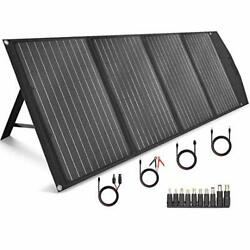 120w Portable Solar Panel Foldable With 4 Outputs Dc/usb/qc3.0/type-c