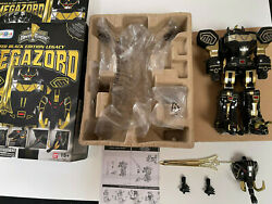 Power Rangers Legacy Black And Gold Megazord - Opened - Displayed - Complete