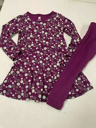 Tea Collection Purple Knit Dress And Leggings Outfit Girls  Sz  2t  2  3t  3