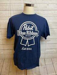 Pabst Blue Ribbon T-shirt Adult Large Beer Advertisement Tee