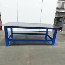 3/8 Thick Top Steel Fabrication Welding Layout Table Work Bench 96x48x36