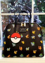 Loungefly Pokemon Starter Black Crossbody Bag Purse Rare NEW with tags NWT $84.99