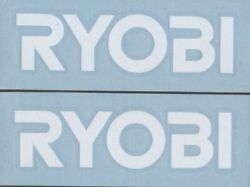 2x RYOBI TOOLS 6quot; White Decals Stickers for Truck Toolbox Window Racing...