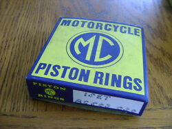 Nos Piston Rings Bsa Unit 650 Cc +.010 Quality Made Ahrma Competition 1963-1971