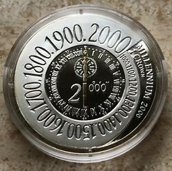 Isle Of Man 2000 Crown Km-1051 Proof Silver In Box And Capsule- Low Mintage