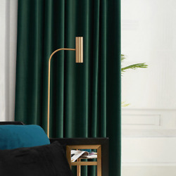 Nordic Curtains Dark Green Velvet Curtains Blackout Curtains Solid Color Curtain