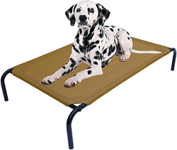Heavy Duty Steel Framed Portable Elevated Pet Bed Elevated Cooling Pet Cot