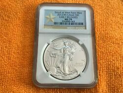 2012 W American Eagle Ngc Ms70 Early Releases West Point Mint 1oz Silver Coin