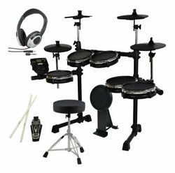 Medeli Dd710jm-diy Kit Chair Headphone Additional Cymbal Pads Drum With Bass Pad