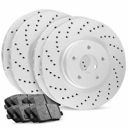 For Front/rear R1 Carbon Geomet Series Drilled+ceramic Pads
