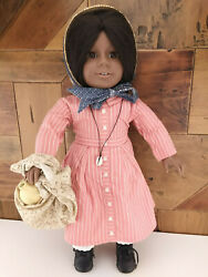 American Girl Addy Doll Pleasant Company 1990and039s Shell Necklace And Gourd