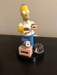 Vintage The Simpsons Homer Talking Alarm Clock With Cake And Donuts 1998 Wesco