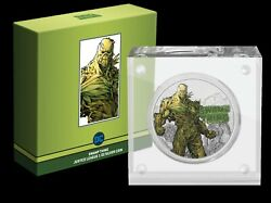 New 2021 Dc Justice League Swamp Thing 50th Ann 1oz Silver Coin Ready To Ship