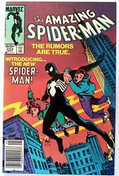 Amazing Spider Man #252 Newsstand First Black Costume Appearance *1st App Key*