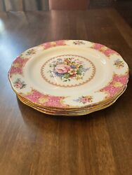 Royal Albert Lady Carlyle — 4 Place Settings, Vegetable Bowl And Platter