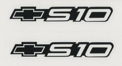 2x S 10 CHEVROLET 6quot; Black Decals Stickers for Truck WindowToolbox Shop...