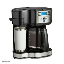 Programmable Coffee Maker 2 Way Single Serve 12 Cup Pot Stainless Steel Glass Ca