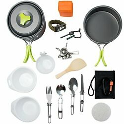 MalloMe Camping Cookware Mess Kit Backpacking Gear amp; Hiking Outdoors Bug Out ... $45.37