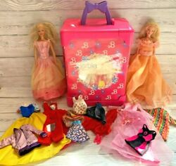 Vintage Barbie Deluxe Doll Trunk Carry Case Wardrobe, Dolls And Clothes / Outfits