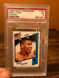 1985 Panini Supersport Mike Tyson Italian Rookie Rc 153 Psa Ex 5 Boxing Card