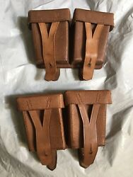 One Original Leather Soviet Mosin-nagant 91/30 Ammo Pouch 1950 Dated