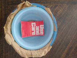 Pyrex Moody Blues Clear Bottom Mixing Bowls 322/323 Vintage Never Been Used