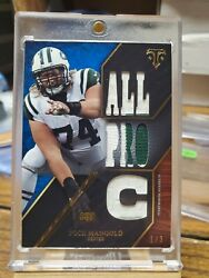 2014 Nick Mangold Topps Triple Thread 1/3 Ttr-79 Patch Ssp Jets All Pro C