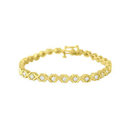 Xoxo Love Theme Bracelet 1.90/2.30cttw - 14k Yellow Gold - Gift For Her Wife