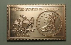 1836 50 Cents Liberty Capped Bust Half 1/2 Dollar Numistamp Medal Mort Reed 1975