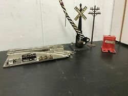 Vintage Marx 505 End Of Track Bumper O Scale Rr Crossing Gate Toy Train Display
