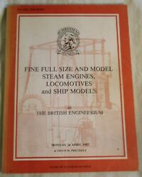 Christies 1982 Catalogue Fine Full Size And Model Steam Engines, Locomotives