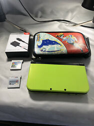 Nintendo New 3ds Xl Lime Green Special Edition Super Mario World 3 Game Bundle